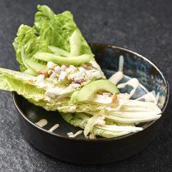 Római saláta uborkával (vegán)